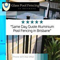 glass pool fence price